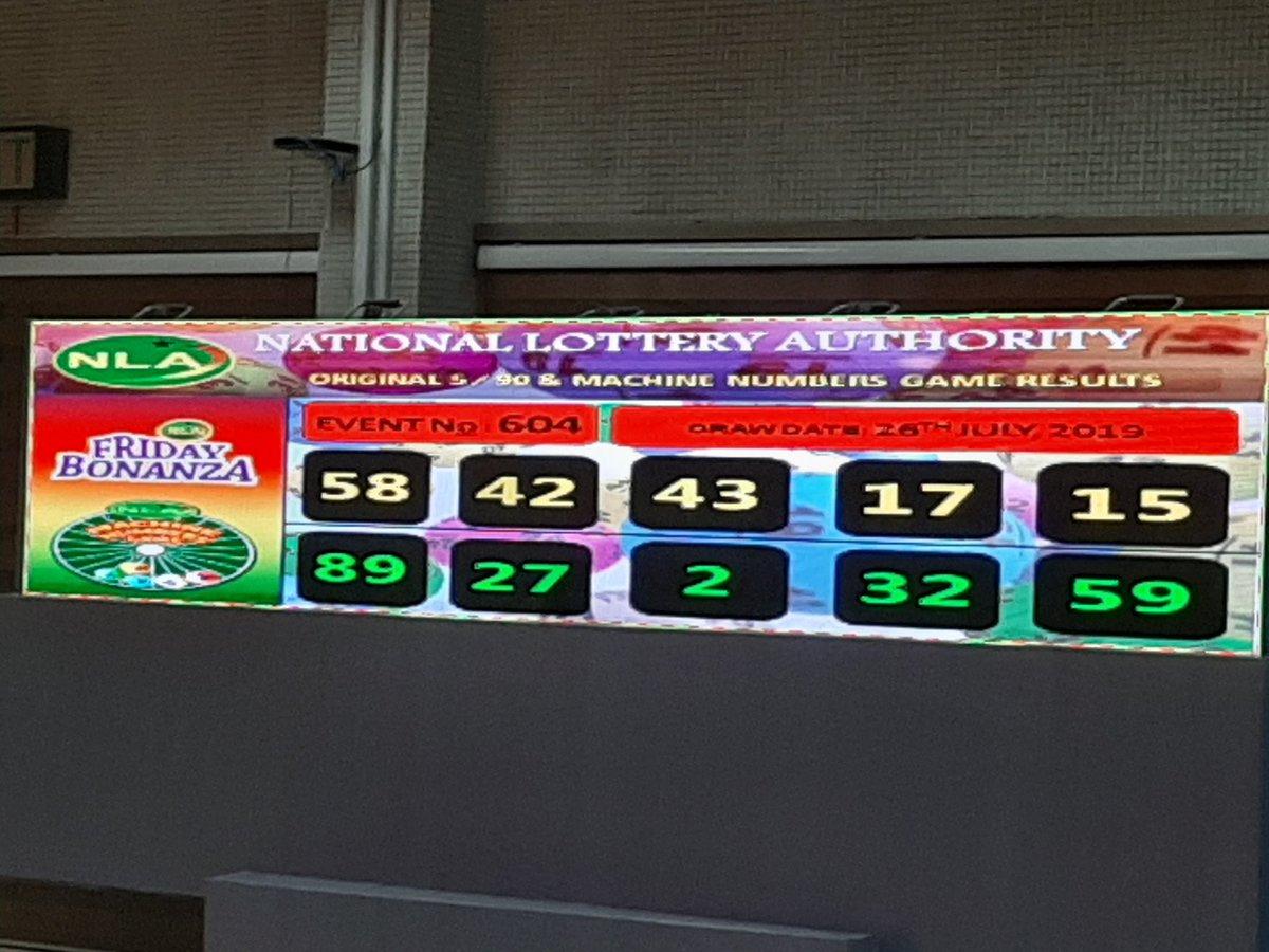 Tunapah Lotto Result