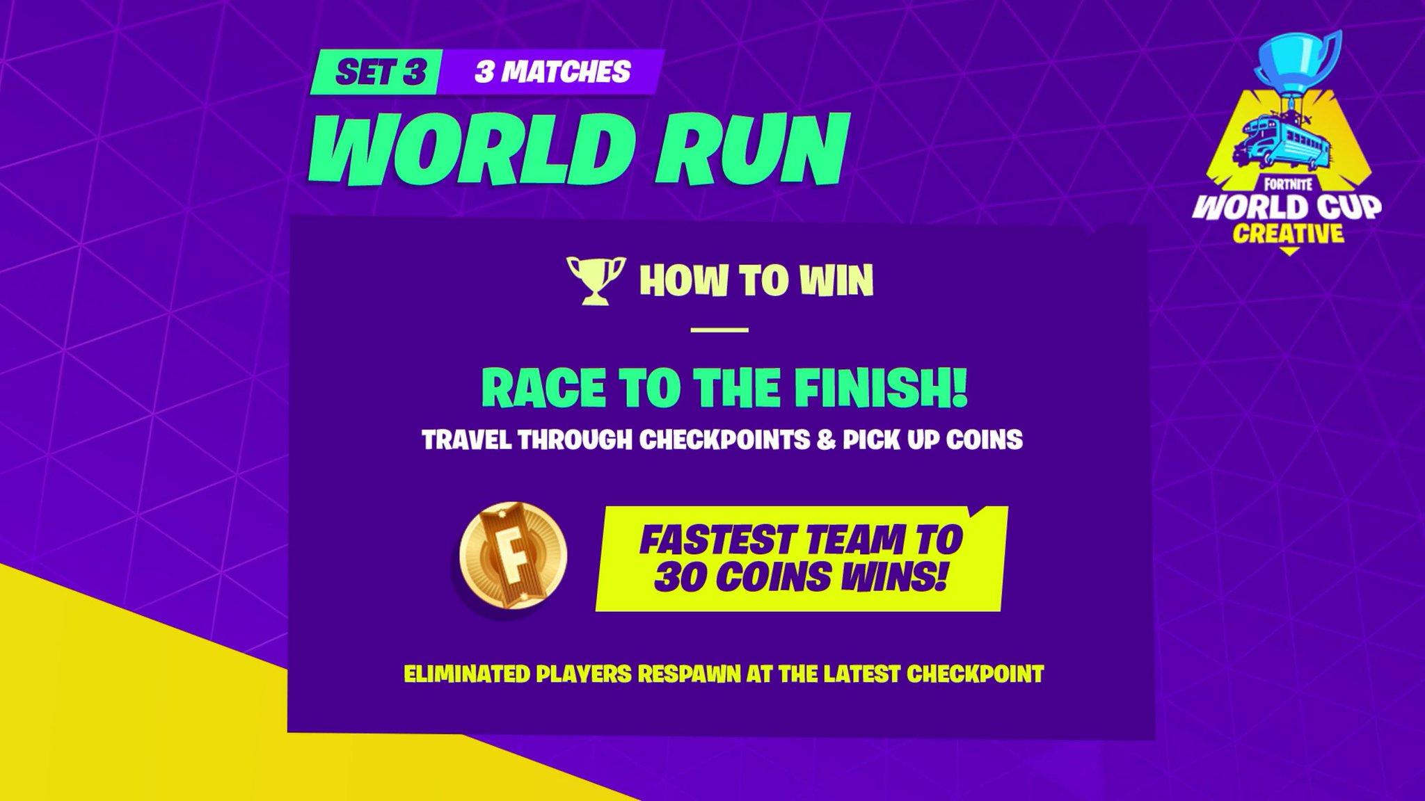 Fortnite News On Twitter World Run Rules Fortniteworldcup