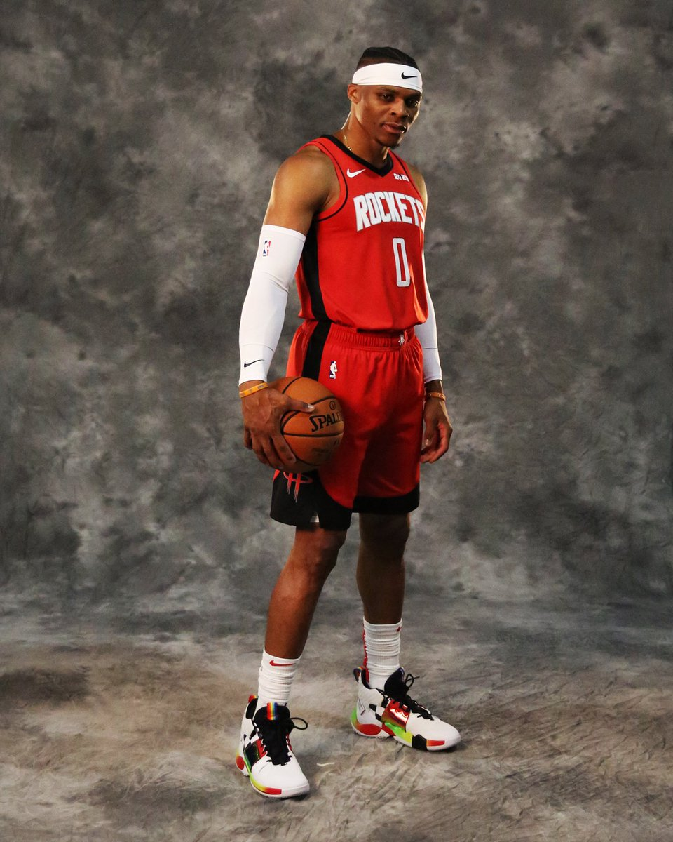 .@russwest44 in Rockets Red! 🚀