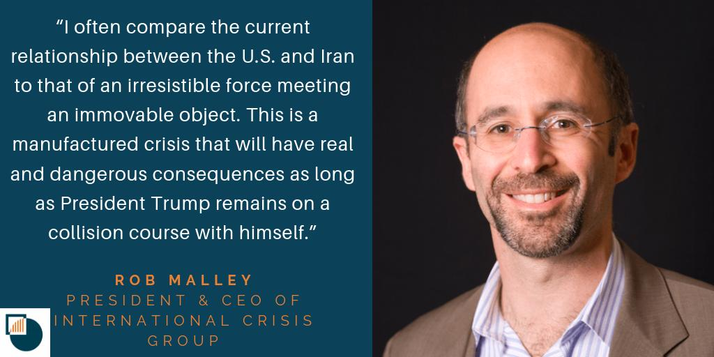 .@Rob_Malley explained the dangerous current state of our relationship with Iran: