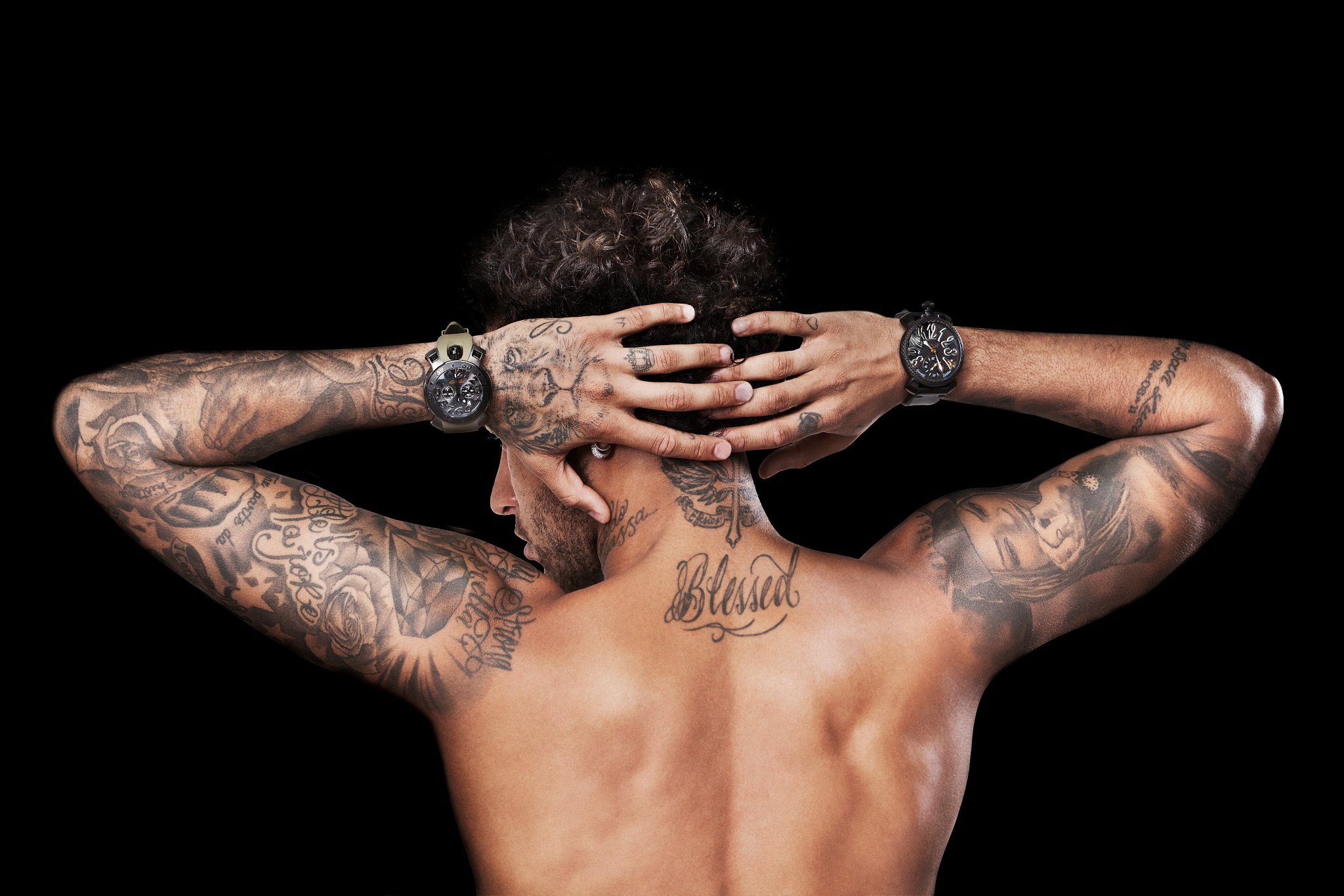 Neymar Júnior tattoo, the Brazilian number 10 from São Paulo, Brazil