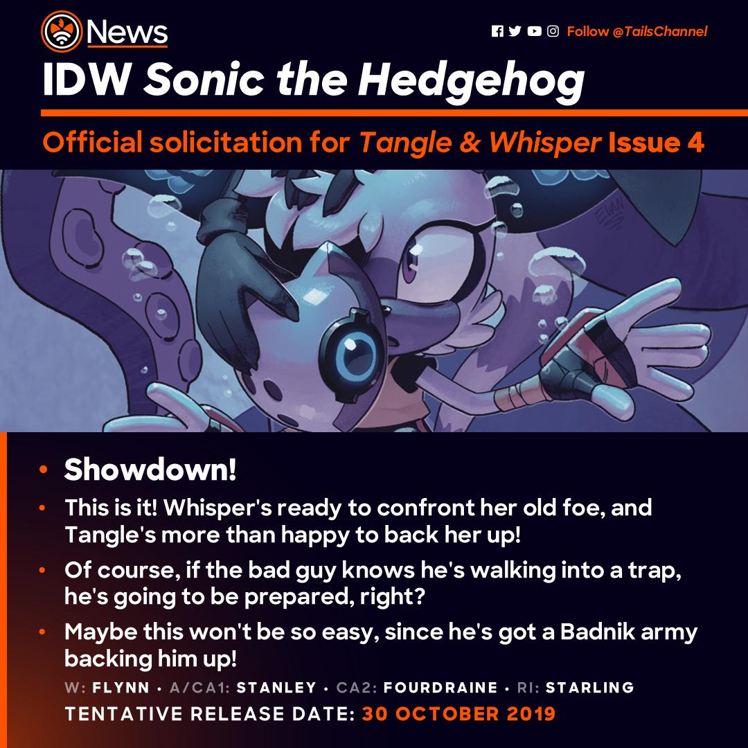 Tails Channel Sonic The Hedgehog News Updates On Twitter New Official Solicitation For Idwsonic Tangle Whisper Issue 4 The Final Fantastic Issue Of The First Sonic The Hedgehog Mini Series