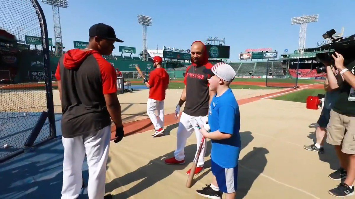 Mookie Betts hits three homers for fan