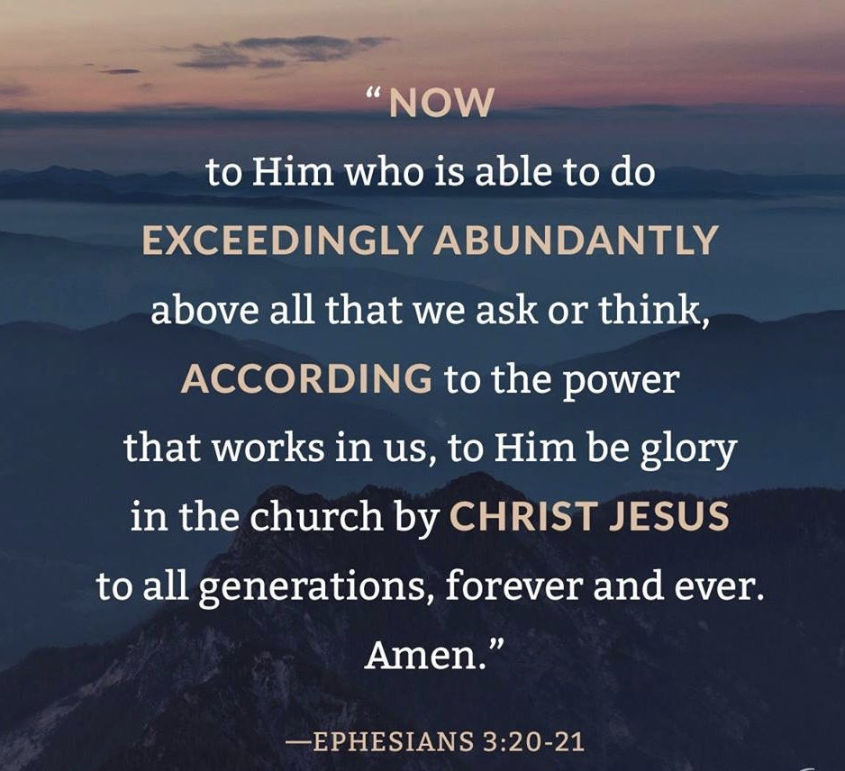 Image result for he is able to do exceedingly abundantly nkjv