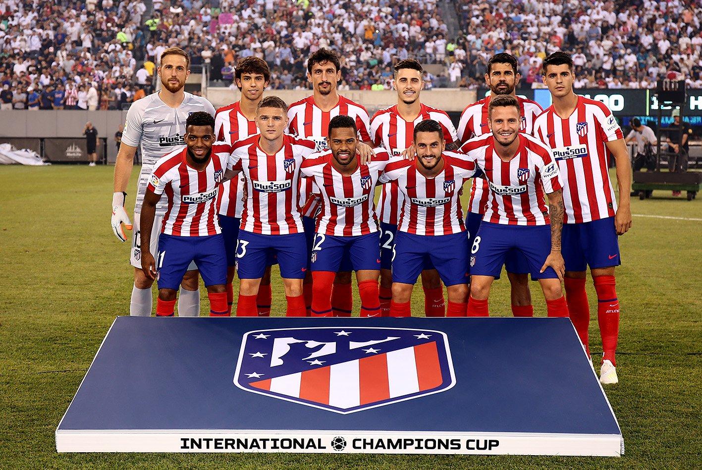 El once del Atlético de Madrid en el derbi de pretemporada (Foto: ATM).