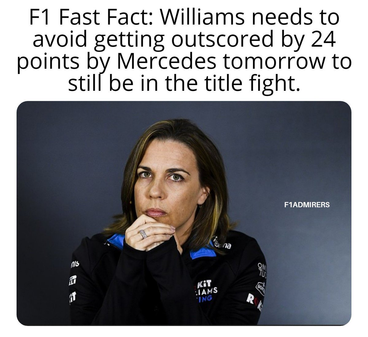 If there was ever a time for the sandbags to come off.. -- #F1FastFact #Vettel #Scuderia #Leclerc #CL16 #MaxVerstappen #HaasF1Team #RomainGrosjean #KevinMagnussen #Hulkenberg #DanielRicciardo #KimiRaikkonen #DaniilKvyat #RacingPoint #SergioPerez #F1Game #F1Jokes #F1 #FormulaUno https://t.co/REgRVAZRWp
