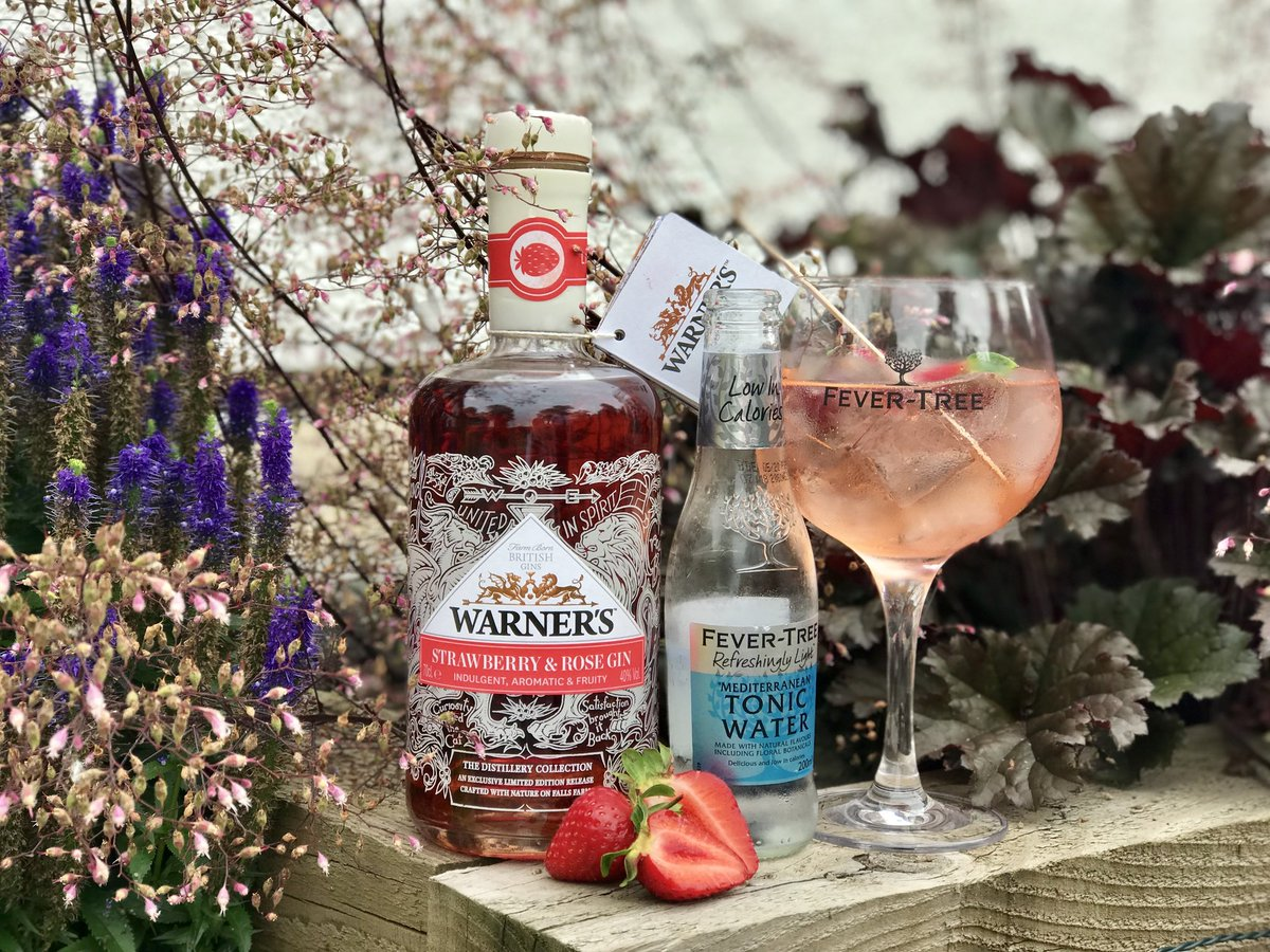 Exclusive launch offer today starting at 8.30am New Warners Gin Strawberry & Rose 1 x Free Glass 1 x Free Bag 1 x Free punnet of Lutton Strawberries. #Northamptonshire #ginlover #SaturdayMorning #offers #warnersgin