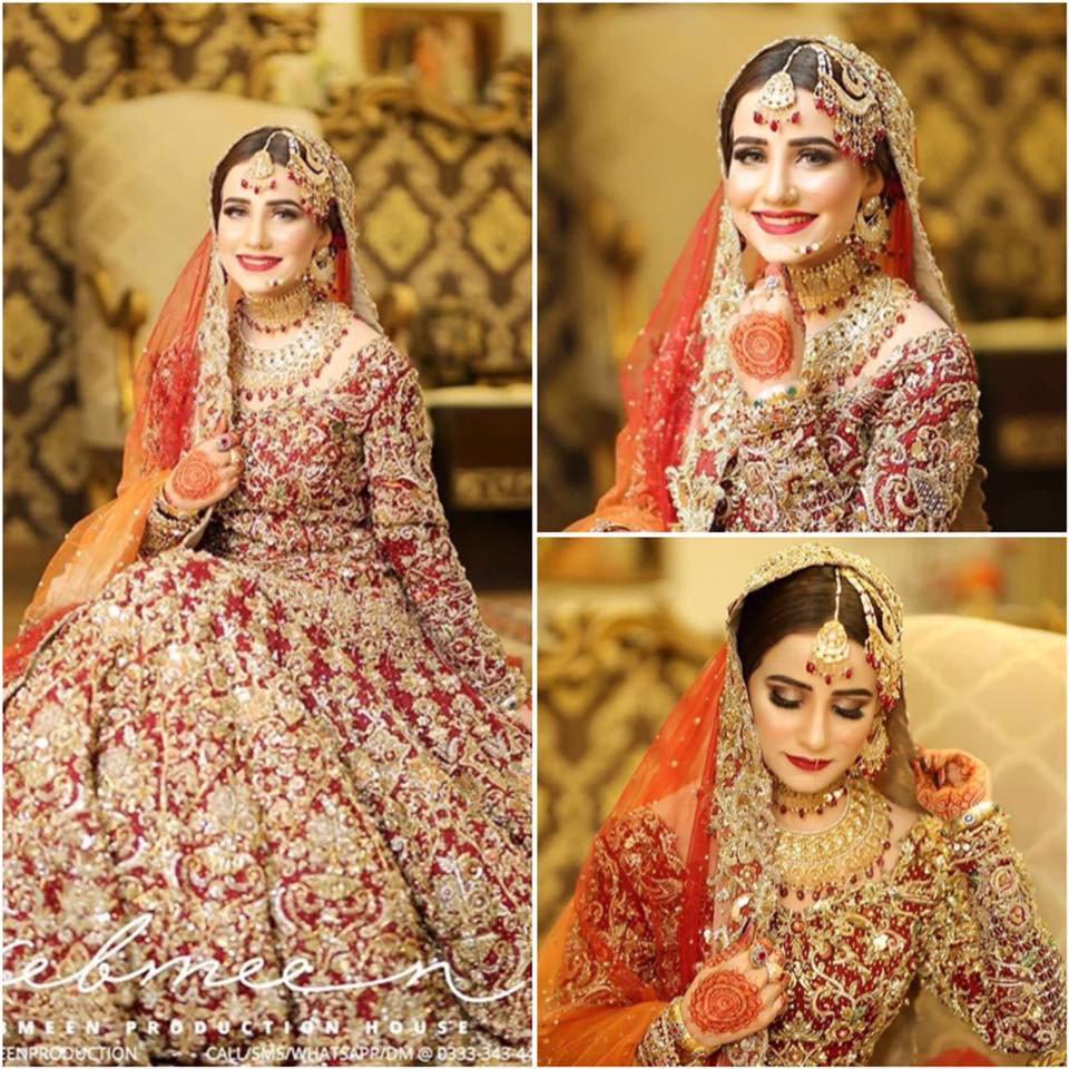 mashal khan Traditional Bridal Look