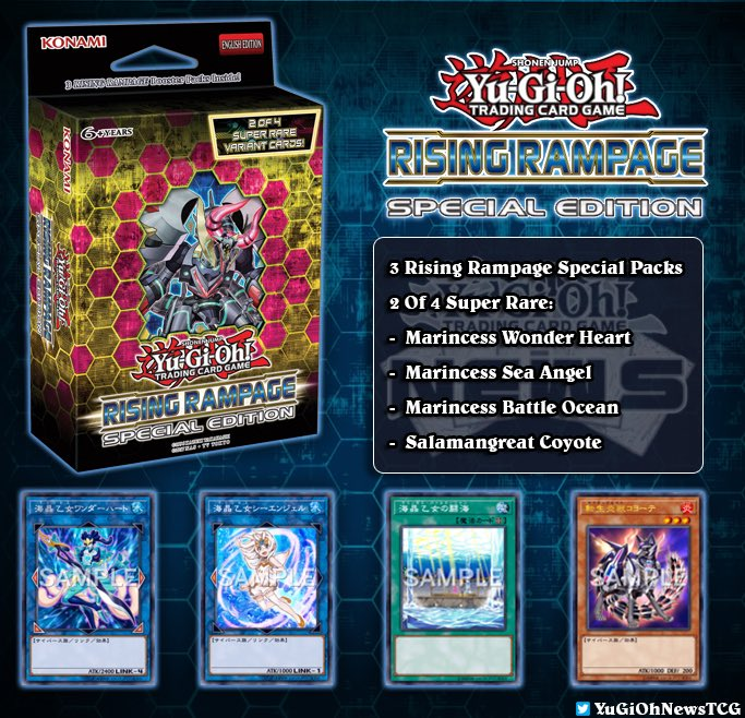 """Yugioh News On Twitter Н—¥ð—œð—¦ð—œð—¡ð—š Н—¥ð—""""𝗠𝗣𝗔𝗚𝗘 The Full Details Of The Upcoming Yugioh Rising Rampage Special Edition Are Here Release Date September 13 2019 Price 9 55 Https T Co Hggersa7zl"""