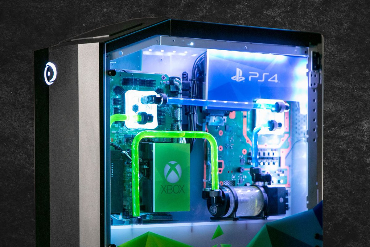 Origin PC's Big O gaming PC has a built-in PS4 Pro, Xbox One X, and Nintendo Switch