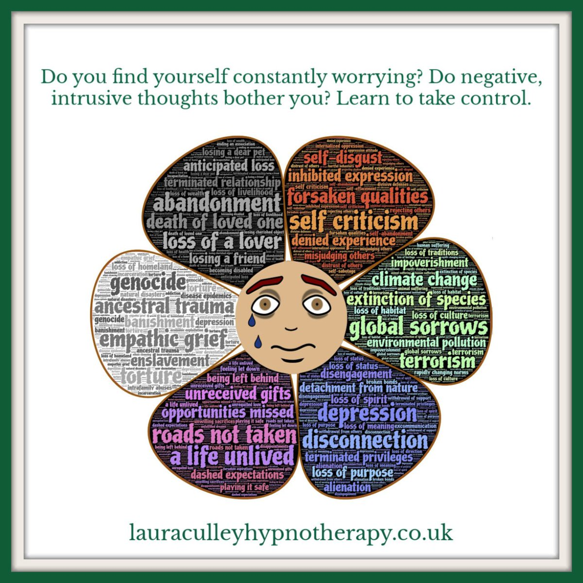 Do you constantly #worry over every little thing?  Do you think of yourself as a #worrier and think life will always be the same? It doesn't have to be. We have the power to take control.  #OvercomeWorry #Hypnotherapy #IntrusiveThoughts #OCDpic.twitter.com/39f36wfA3e