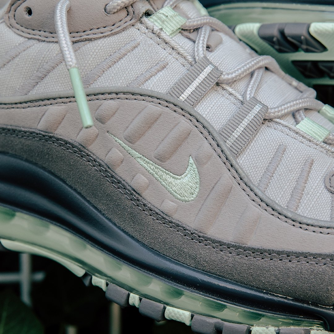 4fd5a6af ... Available online, sizes range from UK6 - UK11 (including half sizes),  priced at £145. Shop now: http://bit.ly/32RkbFW #Nike #NikeAirMax #AirMax98  ...