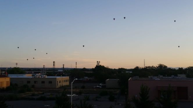 Early morning balloons over Albuquerque. #ISAS2019 graduate workshop starts later this morning.