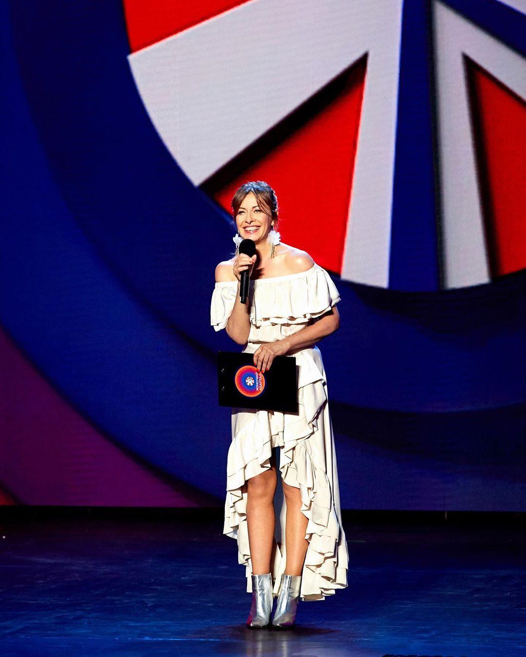 Елена Кравец на шоу Лига Смеха в Одессе