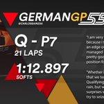 [INFO] 🇪🇸 Carlos Sainz llega de nuevo a la Q3 y saldrá séptimo en el GP de Alemania 👉https://t.co/DfFkpGNUTr  🇬🇧 Carlos Sainz makes it to Q3 again and will start P7 in the German GP 👉 https://t.co/2tavsqIoEu  #carlo55ainz #GermanGP 🇩🇪 #F1