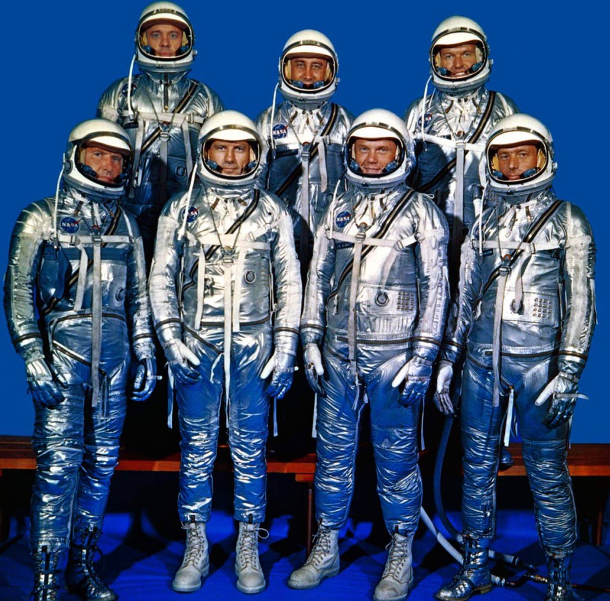 NASA was created today 1958, leading to selection of seven Mercury astronauts: