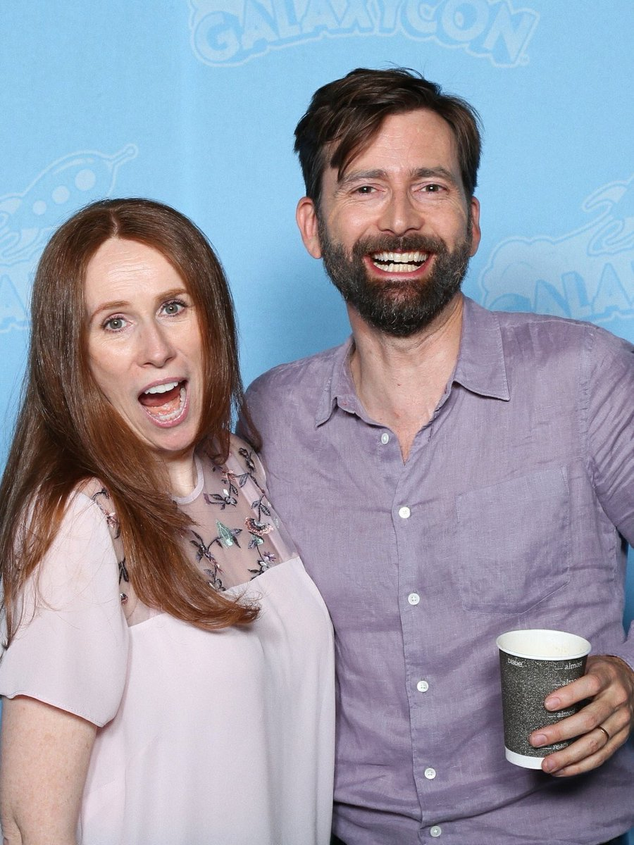 David Tennant and Catherine Tate at GalaxyCon Raleigh fan convention - Saturday 27th July 2019