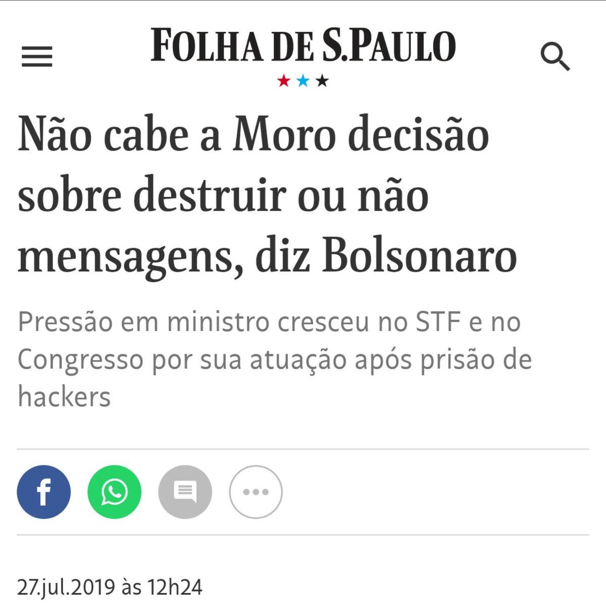 Se Sérgio Moro tivesse um pingo de dignidade, pediria demissão imediatamente.  Mas ele não tem dignidade. O que ele tem é MEDO. https://t.co/SOjH5I2HjQ