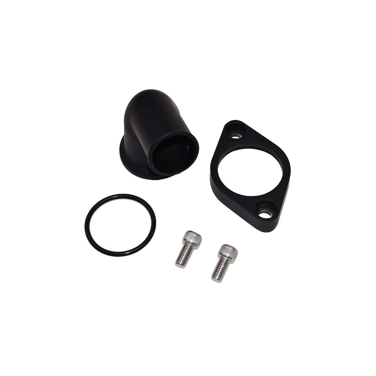 A-Team Performance 15/° Swivel Water Neck Thermostat Housing Compatible With Chevrolet SBC BBC Small Block Big Block Chevy 283 302 305 327 350 383 396 427 454 502 Black