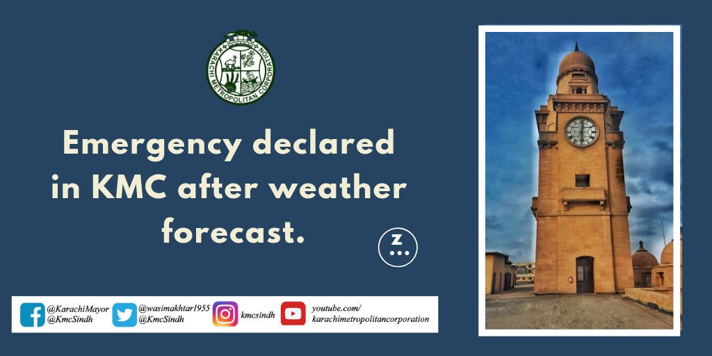 Mayor Karachi has declared state of emergency in KMC ahead of forecast of rains in the city and has directed the officers and staff of concerned departments of KMC to remain alert whereas cleaning of major storm water drains started on emergency basis in the city @wasimakhtar1955 https://t.co/d7I1hbvTSN