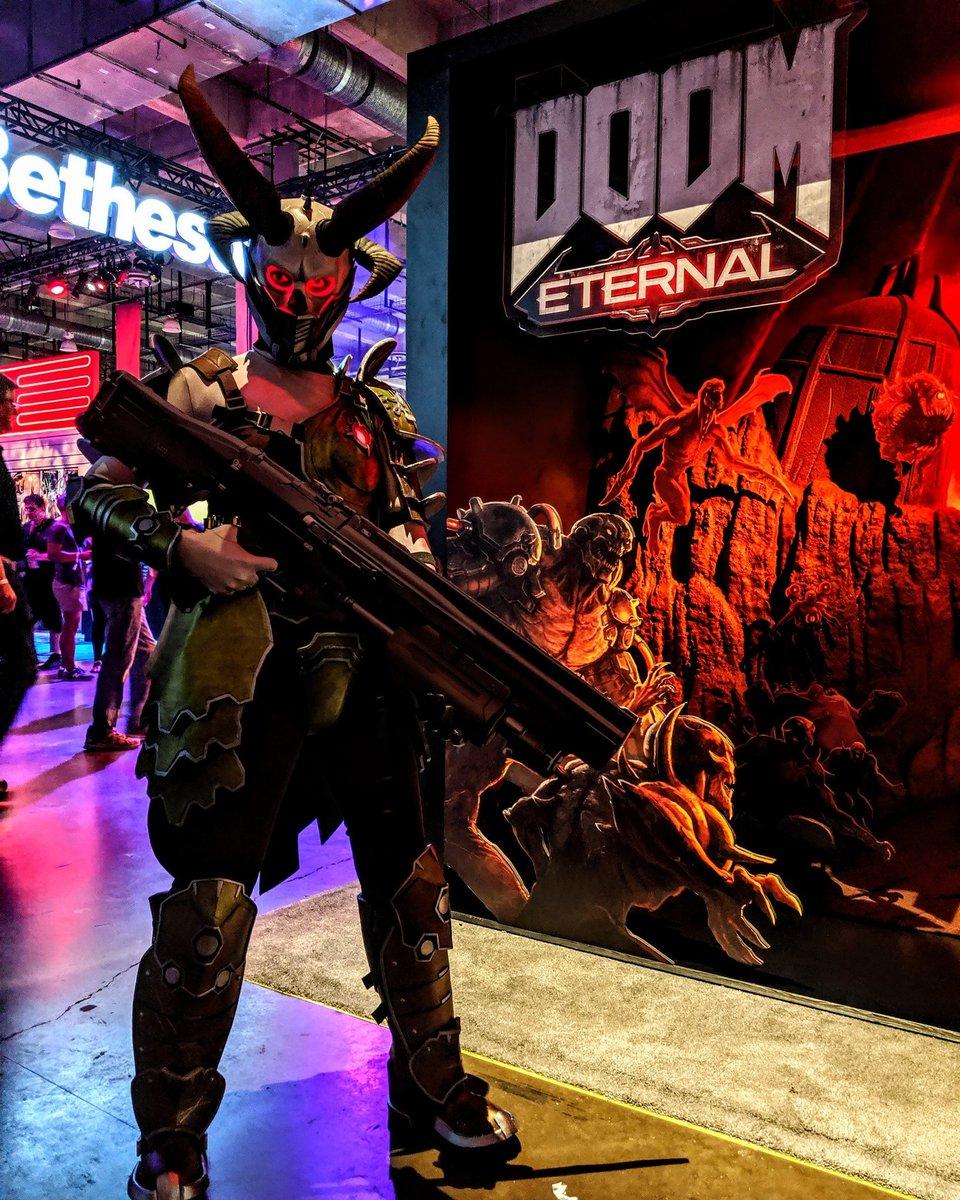 Doom On Twitter Doom Eternal Cosplay At Quakecon Marauder Studiomalott On Instagram Slayer Nimrodcon