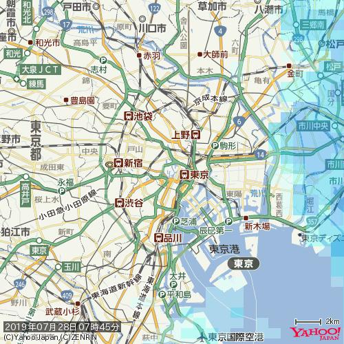東京 雨雲 レーダー