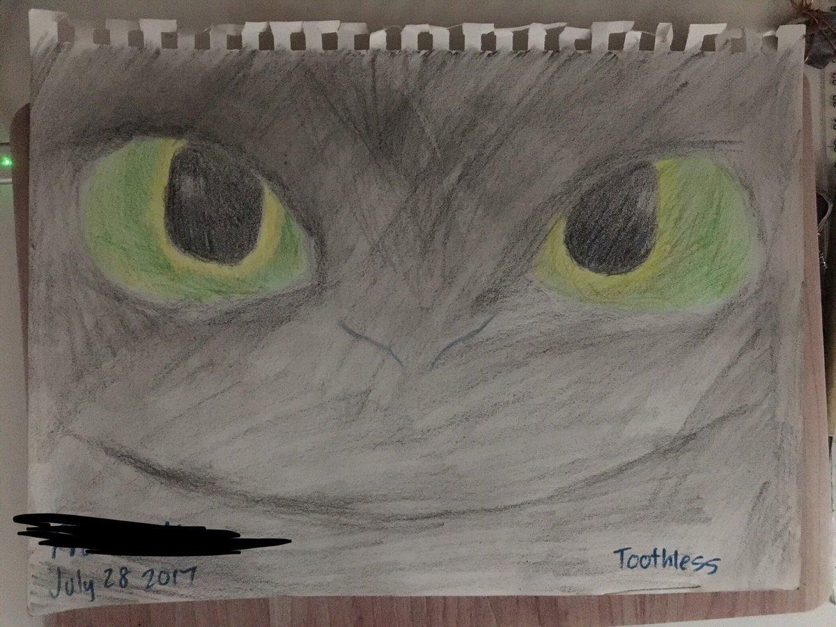Toothless Drawings Fan Art