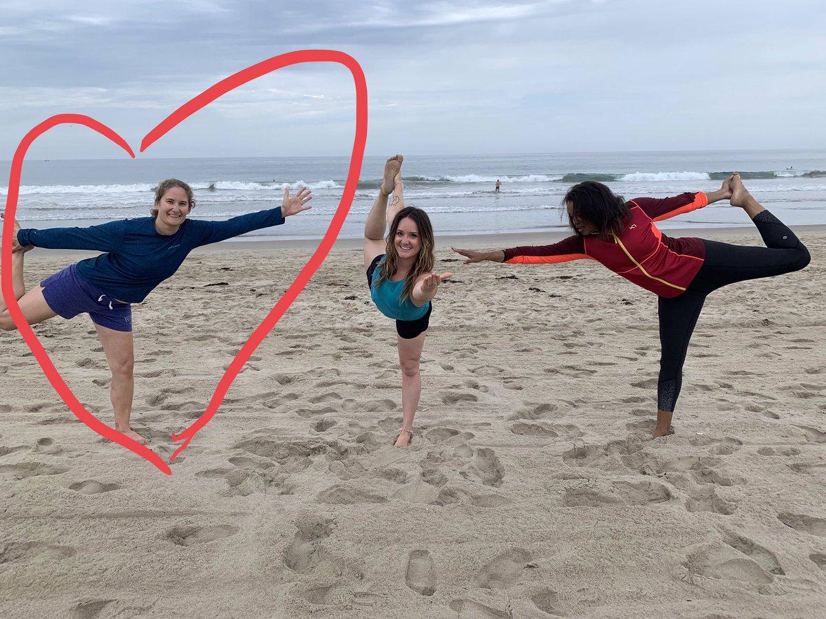 @michelelkelly You'll appreciate how my wife @jennifermappel spent her summer... #BeachYoga #DancerPose