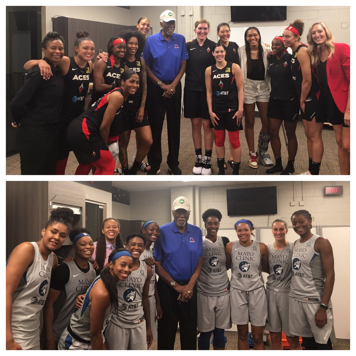 Had such a great time meeting the ⁦@WNBA⁩ players ⁦@LVAces⁩ & ⁦@minnesotalynx⁩ last week wish I could have stayed longer to watch in person #WNBAAllStar