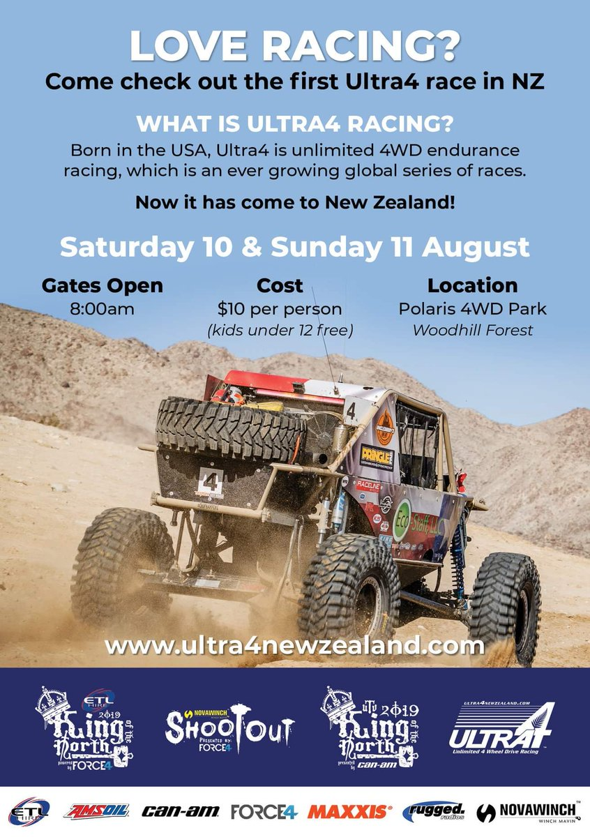 Ultra4 is growing and we cant wait to see the first race in New Zealand! Check out this upcoming event! #Ultra4 #Ultra4NewZealand #RaceWeekend m.facebook.com/story.php?stor…