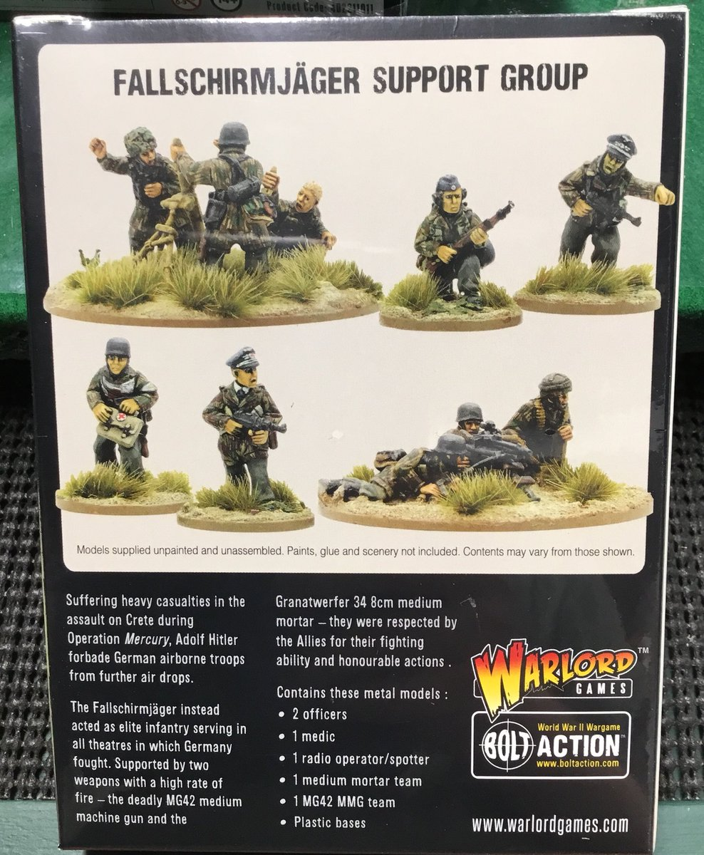 28mm WW2 German Squad 12 Bolt Action Chain of Command unpainted. 10 figs