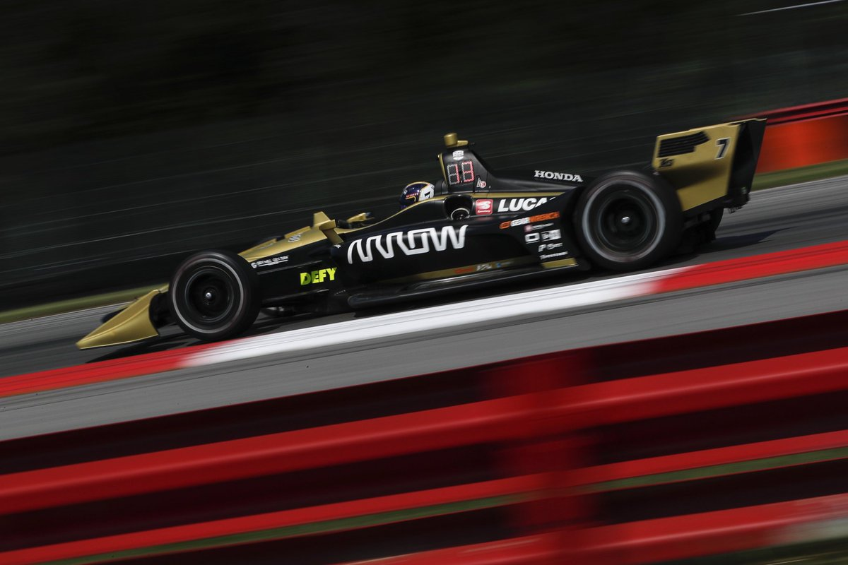Fun driving at the awesome @Mid_Ohio for the first time this weekend. P12 in Q today. We can have a great race from there tomorrow. The #7 @ArrowGlobal @SPMIndyCar car feels good 💯🏁 #ME7 #INDYCAR