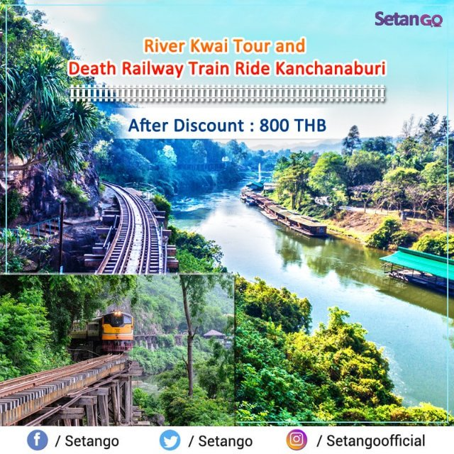 Book now River Kwai and Death Railway Train Ride Tour at Kanchanaburi Thailand... #amezingthailand #deathrailway