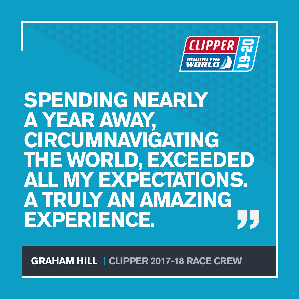 A year ago the Clipper 2017-18 Race concluded in spectacular fashion. Today we would like to celebrate all our remarkable Race Crew who have competed in the #ClipperRace and ask what one piece of advice they would share with crew preparing to take on the 2019-20 edition?