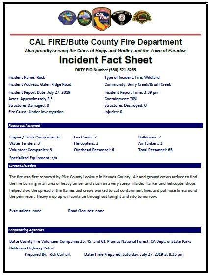 CAL FIRE Butte Unit/Butte County Fire Department (@CALFIRE_ButteCo