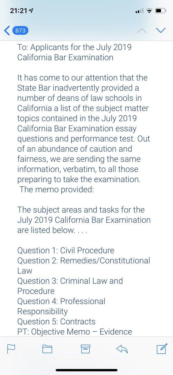 California Bar Performance Test