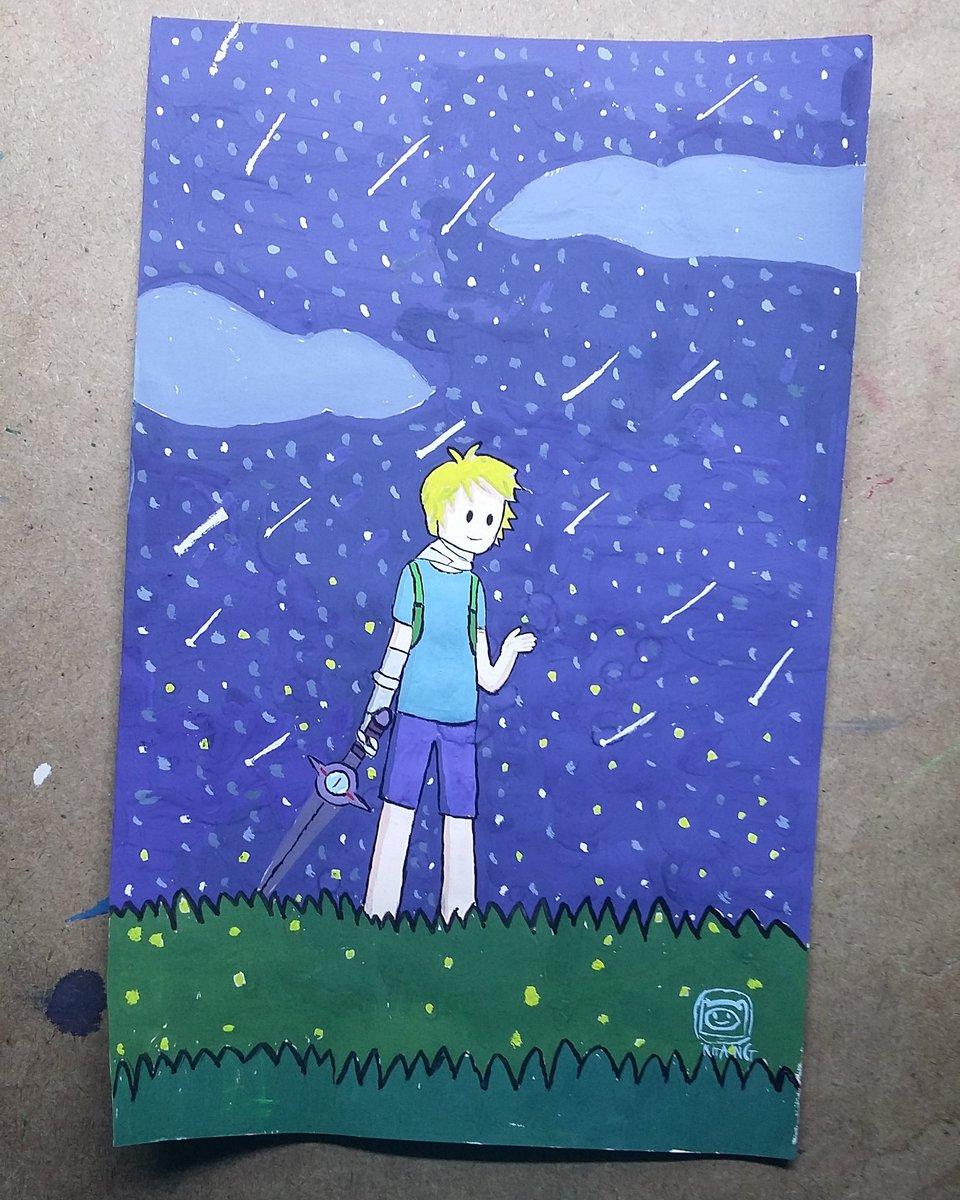 Finn with Fireflies #AdventureTime #Finnthehuman #Fernthehuman  #adventuretimeFinnthehuman #adventuretimeFerndrawing