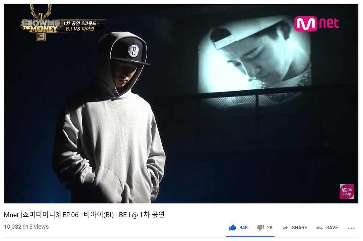 Kim Hanbin (B.I)s song from SMTM3, Be I, has surpassed 10M views on YouTube! 🔗 youtu.be/pBSKYG0yYIg #iKON #아이콘 @YG_iKONIC