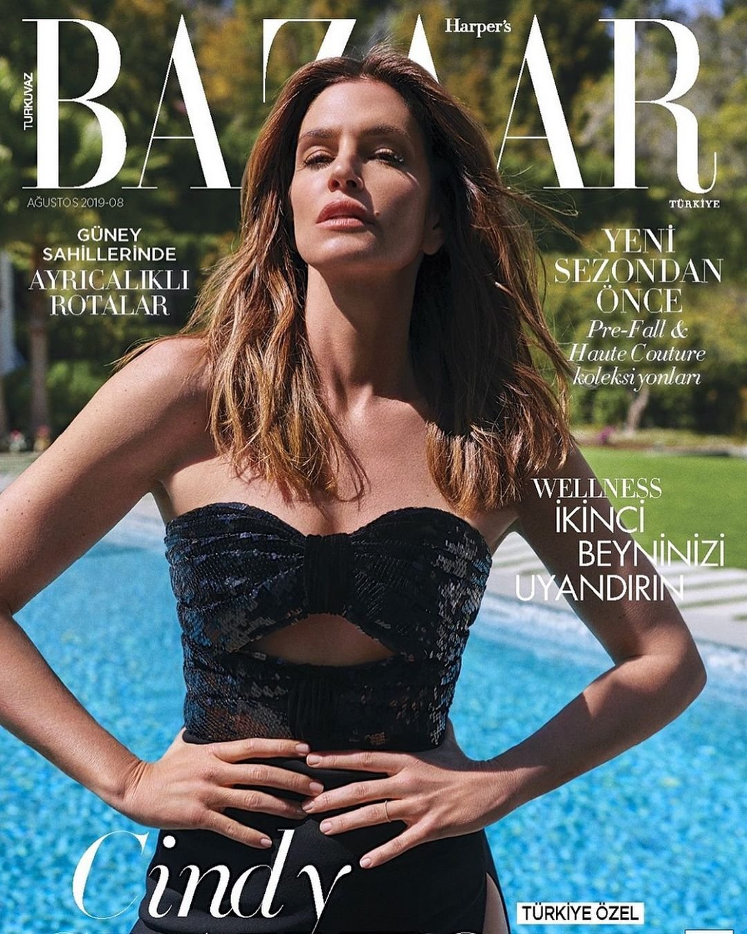 Синди Кроуфорд на обложке Harper's Bazaar Turkey