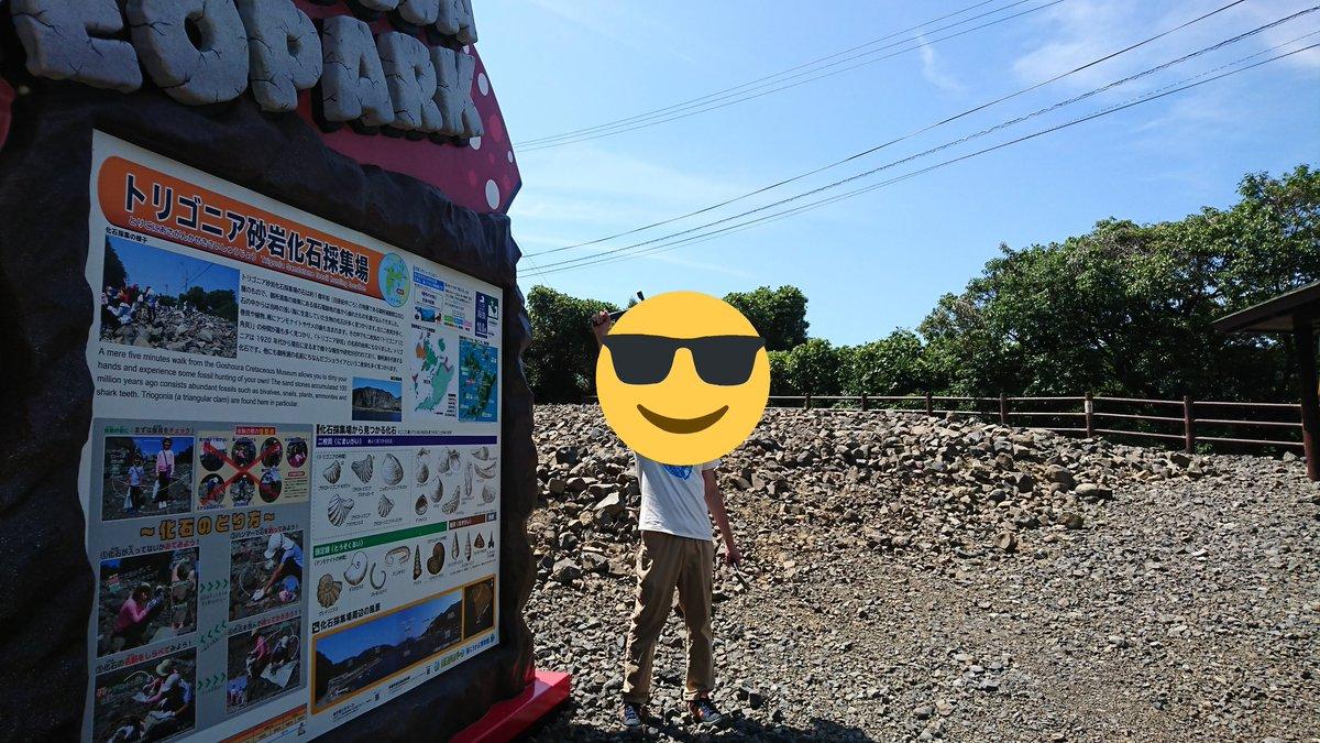 天草の御所浦島に化石堀りに行って来ました(^-^)ノ ここは以前に恐竜の化石が発掘された場所で、今も発掘調査されているそうです🌟 暑かったけど貝や貝の巣穴の化石がとれましたー(´▽`)