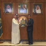 Image for the Tweet beginning: H.E. Dr. Al Angari receives