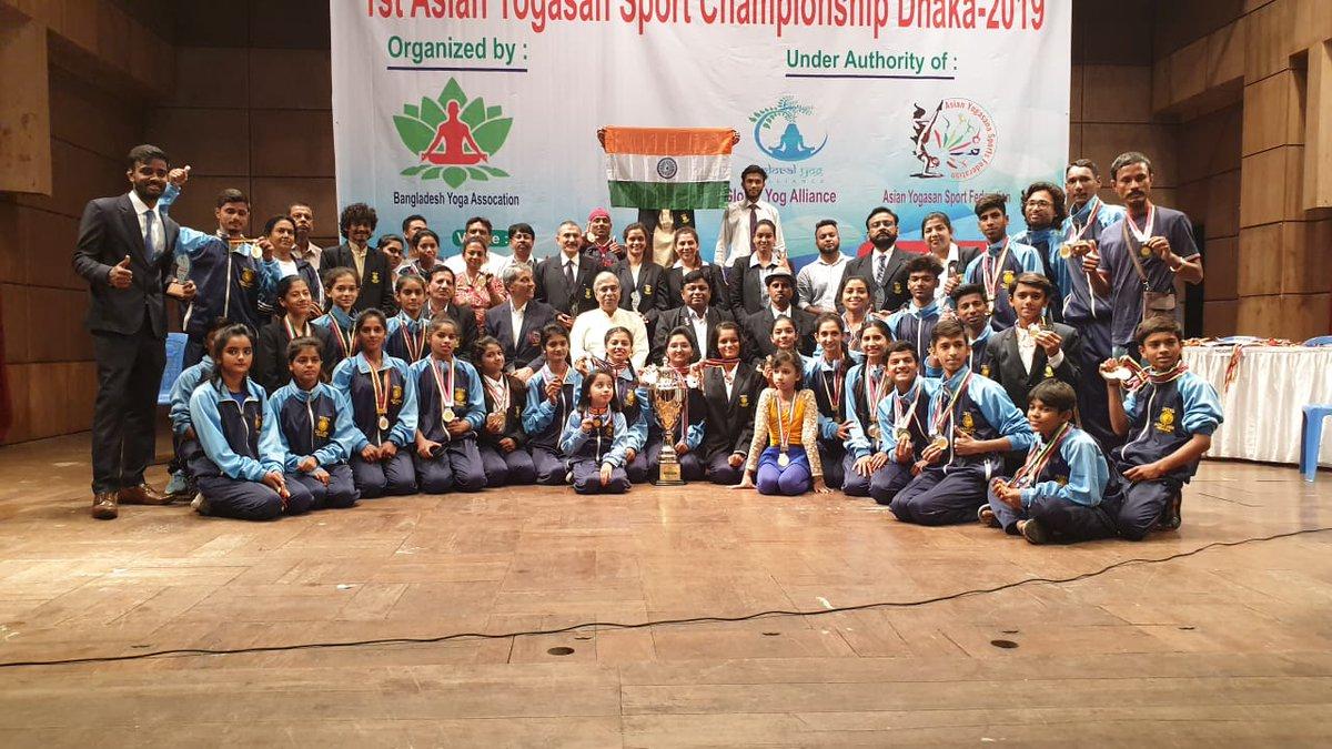 In pictures: 9-year old Bhavnagar girl wins Yogasan Championship medal in Dhaka, Bangladesh