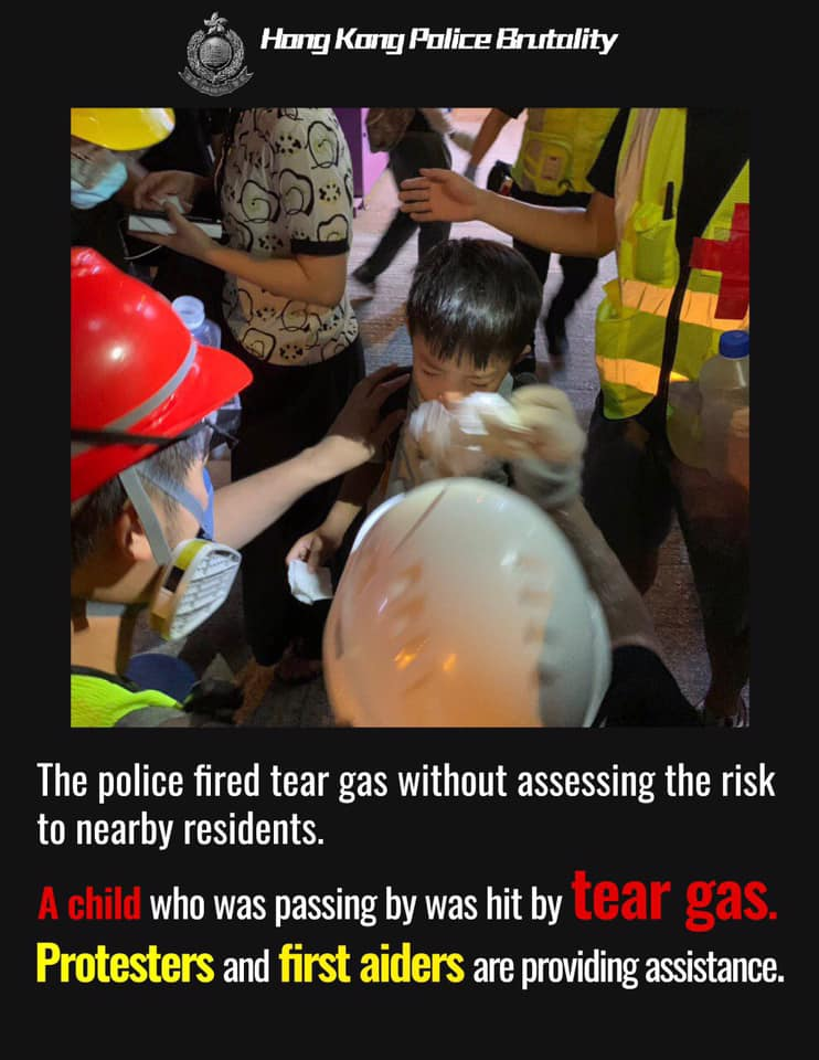 Image result for hong kong tear gas kids MTR