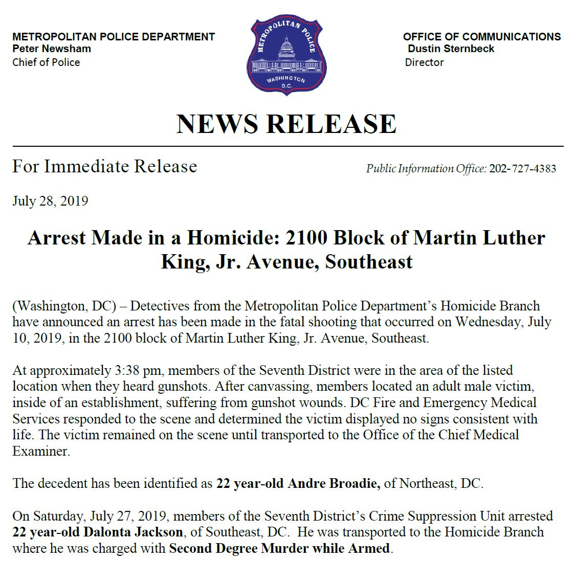 DC Police Department on Twitter: