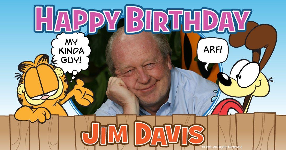 Garfield On Twitter Happy Birthday Big Guy Catsontwitter Comics Comicstrip Jimdavis