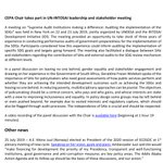 Image for the Tweet beginning: #UNCEPA @GJFras @unpan @PaliLehohla @AuditorGen_SA