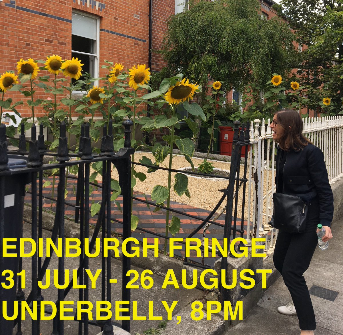 EDINBURGH! These very tall sunflowers could be you! Tickets: underbellyedinburgh.co.uk/whats-on/emmy-…