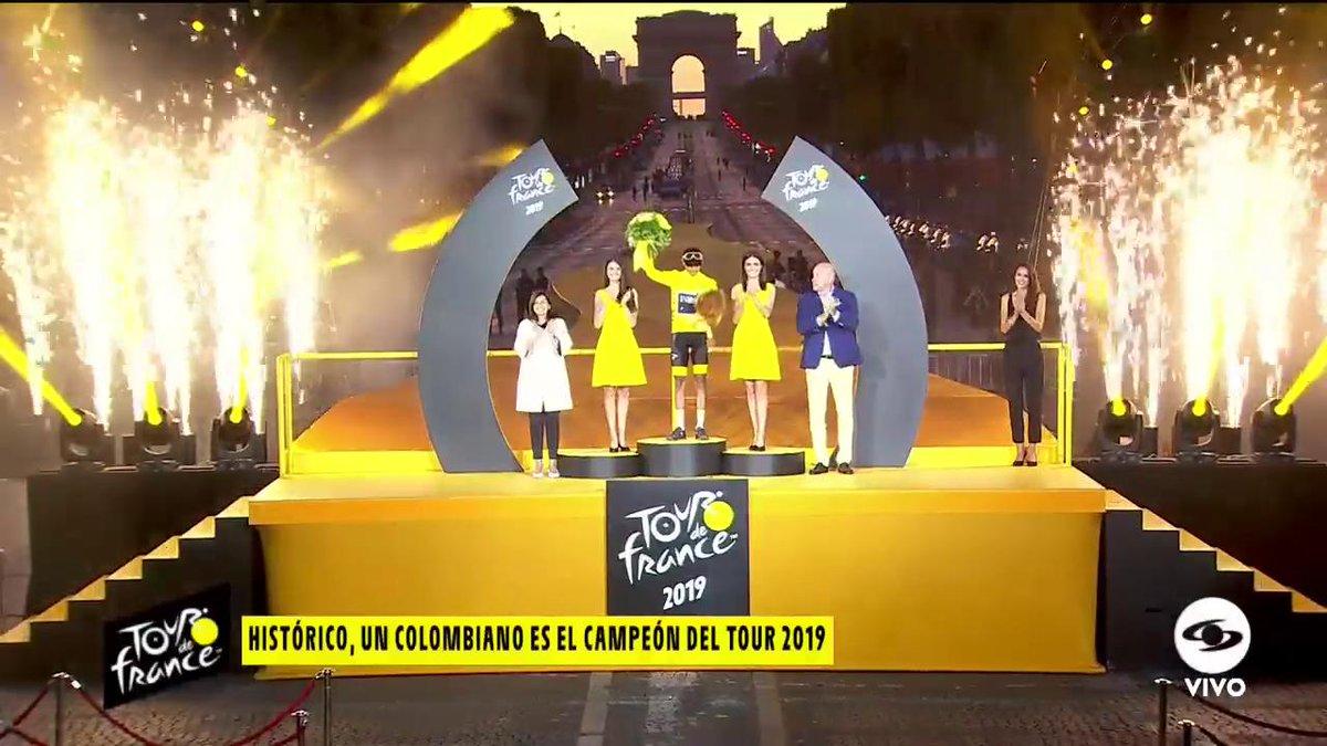 ¡Póngase de pie! Aquí está el campeón del Tour de Francia 2019: Egan Bernal http://www.eltourporcaracol.com#GraciasEgan