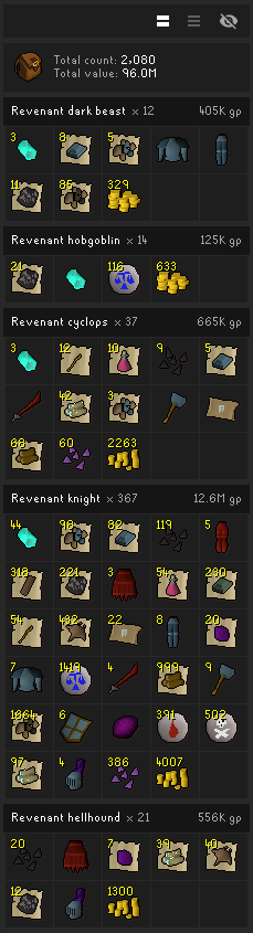 Revenant Pet Drop Rate