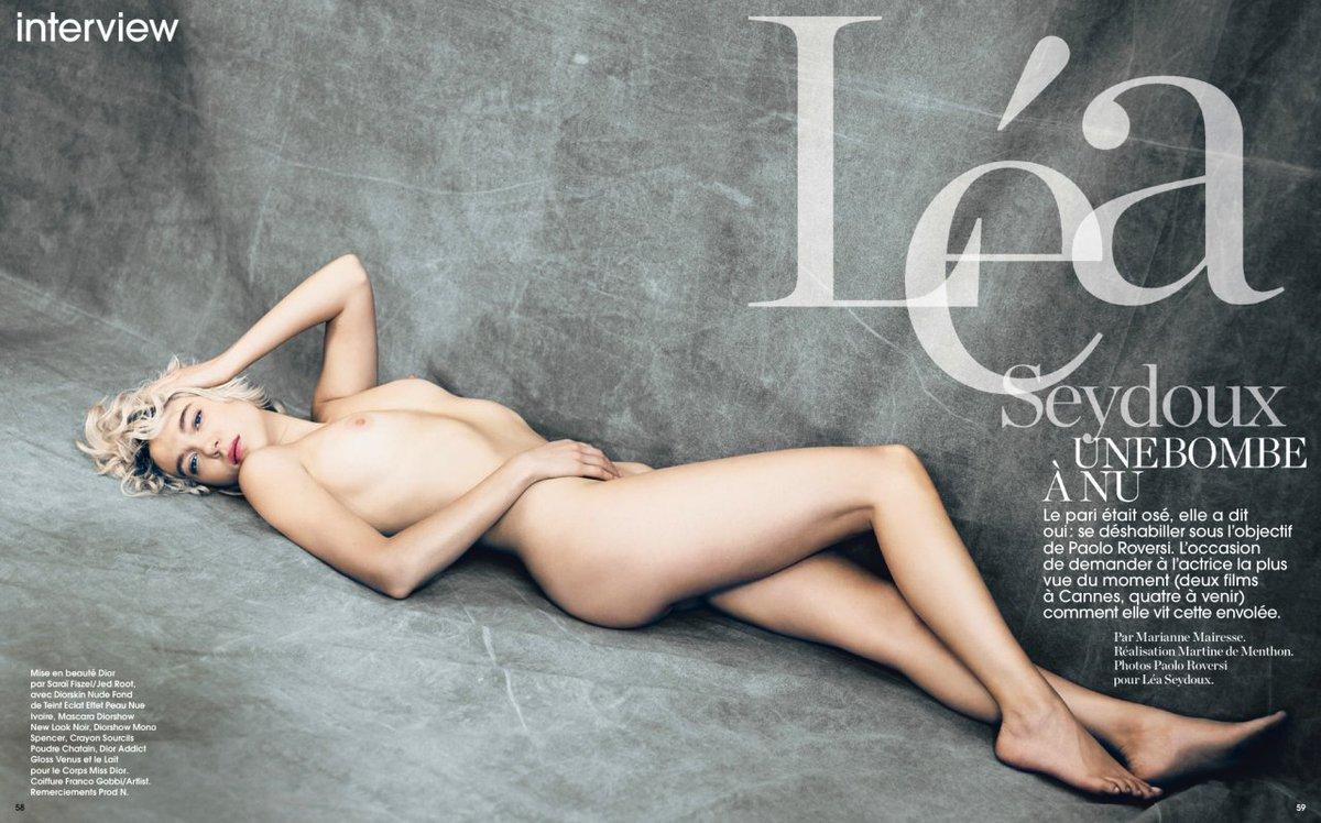 Lea Seydoux – Marie Claire France (2013)  – Celeb Nudity